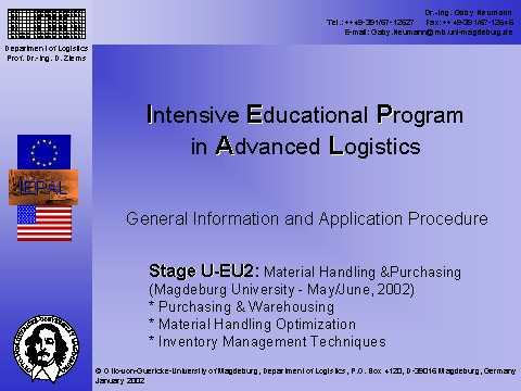 IEPAL U-EU2 Magdeburg University, Germany